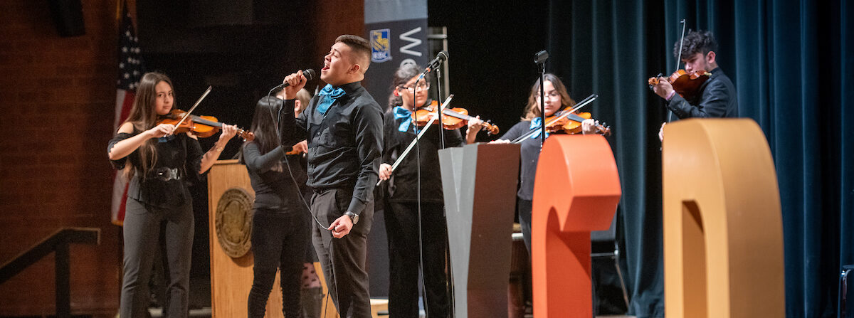 Student mariachi band performs