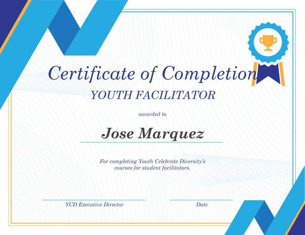 YCD Certificate